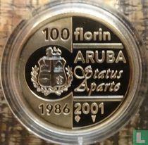 "Aruba 100 florin 2001 (PROOF) ""15th anniversary of Status Aparte"""