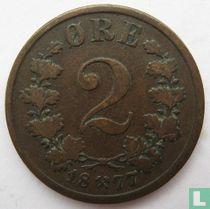 Norwegen 2 Øre 1877