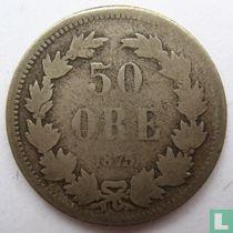 Schweden 50 Öre 1875 (große Buchstaben)