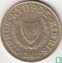 Cyprus 20 cents 2001
