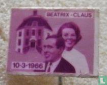 Beatrix - Claus 10-3-1966 (rechthoekig)
