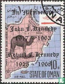 Map of Oman with Kennedy overprint