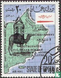 Map of Oman with overprint Apollo 8