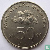 Maleisië 50 sen 2000