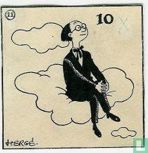 Hergé - original drawing for a rebus