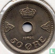 Norwegen 50 Øre 1926