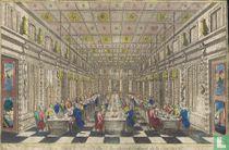 Vue perspective des Festins de Versailles en Réjouis de la paix en 1763