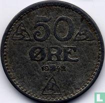 Norwegen 50 Øre 1942 (Zink)