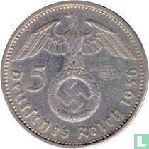 Duitse Rijk 5 reichsmark 1936 (met hakenkruis - F)