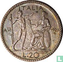 Italië 20 lire 1927