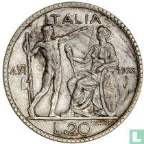 Italië 20 lire 1928