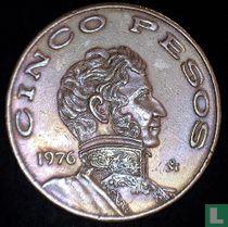 Mexico 5 pesos 1976 (kleine datum)