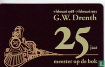G.W. Drenth 25 jaar meester op de bok