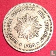 Uruguay 2 centésimos 1901