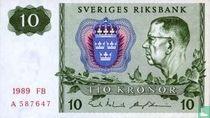 Schweden 10 Kronor 1989