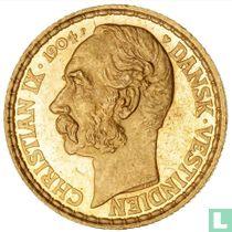 Deens West-Indië 4 daler / 20 francs 1904