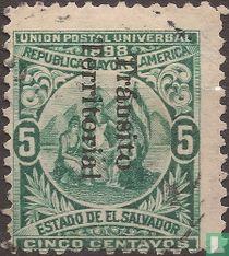Unie van Midden-Amerika met opdruk