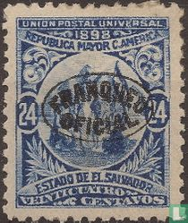 Unie van Centraal Amerika met opdruk