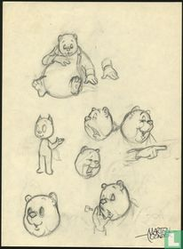 Study advertising drawing Mr Bommel