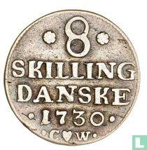 Denemarken 8 skilling 1730
