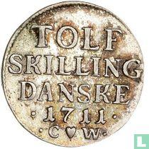 Denemarken 12 skilling 1711