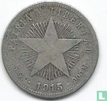 Cuba 20 centavos 1915 (laag reliëf ster)