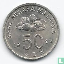 Malaisie 50 sen 1992