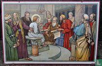 Jezus met de schriftgeleerden