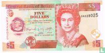 Belize 5 dollars 2011