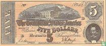 Confederate States 5 dollar