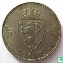 Norwegen 50 Øre 1922 (ohne Loch)