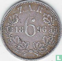 Afrique du Sud 6 pence 1896