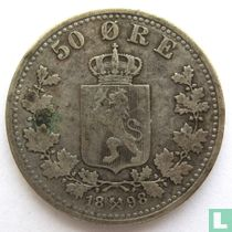 Norwegen 50 Øre 1898