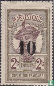 Martinikaanse, met opdruk