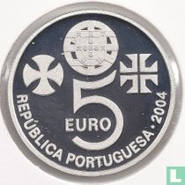 """Portugal 5 euro 2004 (PROOF) """"Convent of Christ in Tomar"""""""