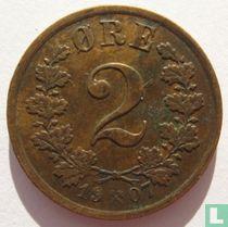 Noorwegen 2 Øre 1907
