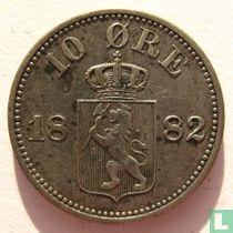 Norwegen 10 Øre 1882