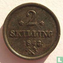 Norwegen 2 Skilling 1843