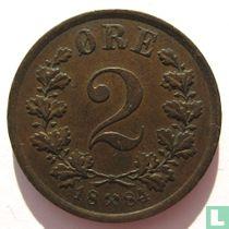 Norwegen 2 Øre 1884
