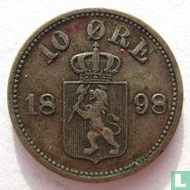 Norwegen 10 Øre 1898