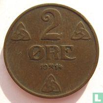 Noorwegen 2 Øre 1914