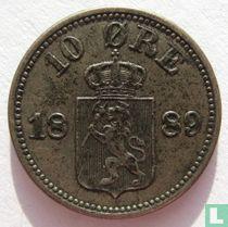 Norwegen 10 Øre 1889