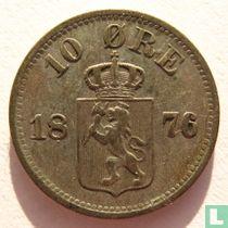 Norwegen 10 Øre 1876