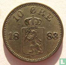 Norwegen 10 Øre 1883