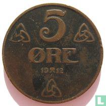 Norwegen 5 Øre 1912