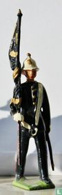 Royal Marine officer with regimental Colour