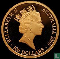 "Australia 100 dollars 2000 (PROOF) ""Summer Olympics in Sydney"""