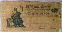 Argentinië 5 Pesos 1948