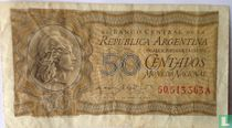 Argentinië 50 Centavos 1950