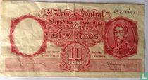 Argentinië 10 Pesos 1954